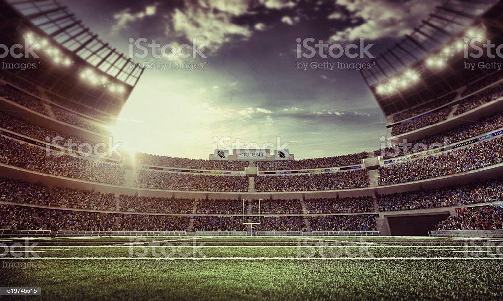 Retro american football stadium stock photo