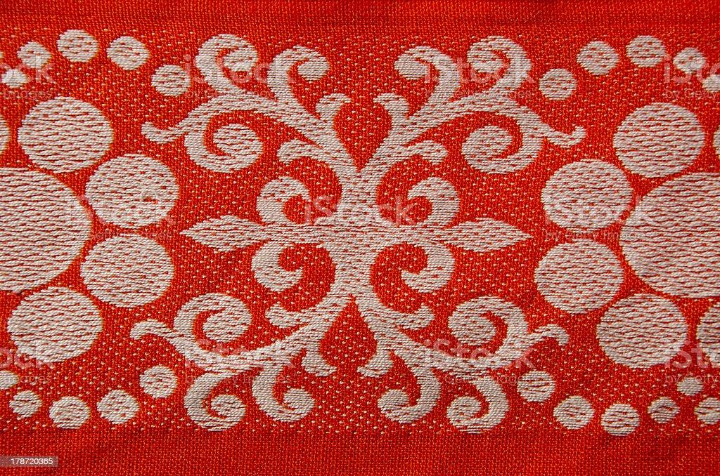 retro and ornamental tablecloth royalty-free stock photo