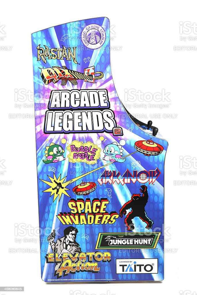 Retro Arcade Machine royalty-free stock photo