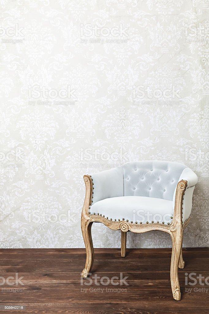 retro armchair stock photo