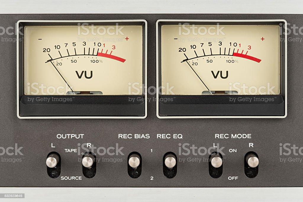 retro audio displays stock photo