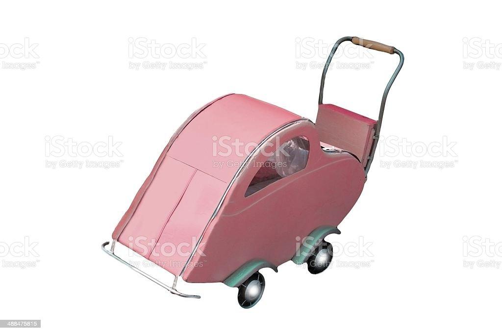 retro baby-carriage isolated stock photo