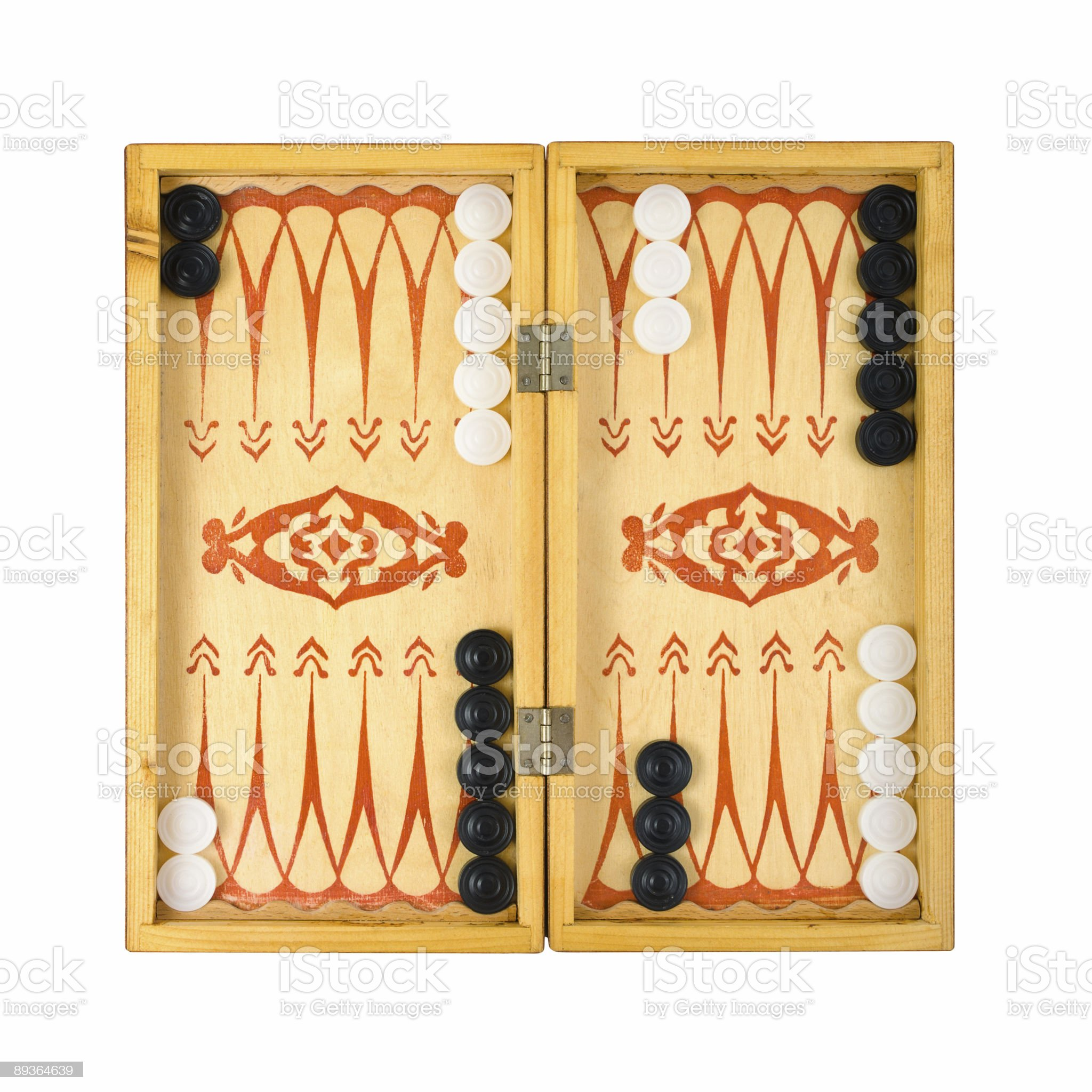 Retro backgammon game royalty-free stock photo