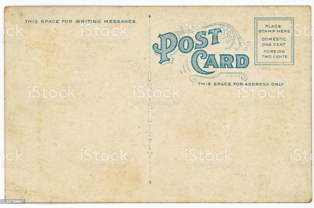 Retro Background Image of an Vintage Antique Postcard Back stock photo