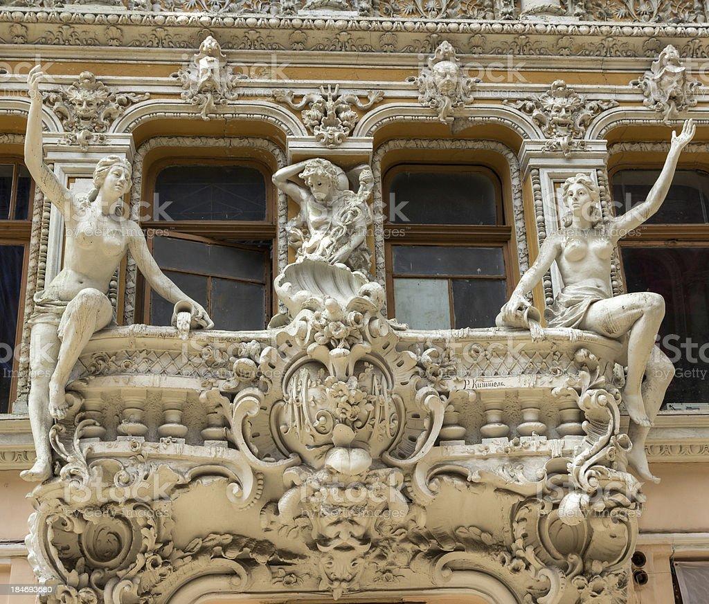 retro balcony royalty-free stock photo
