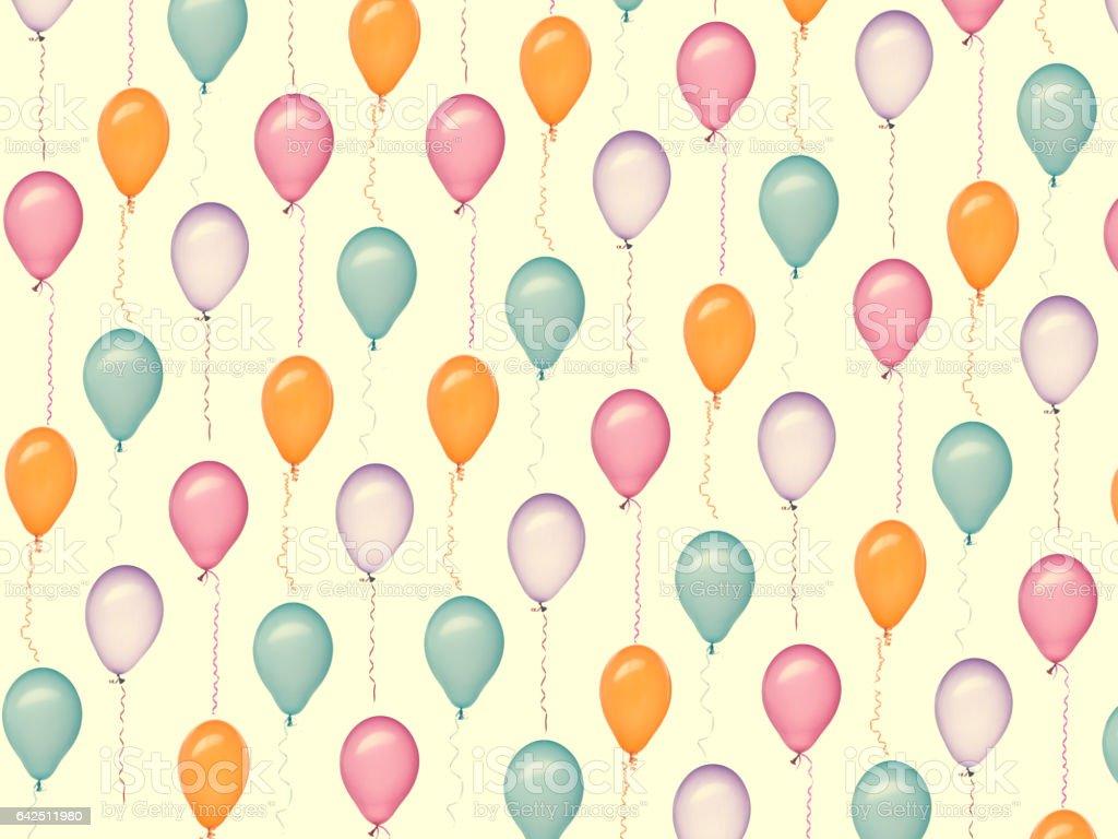 retro balloons texture stock photo