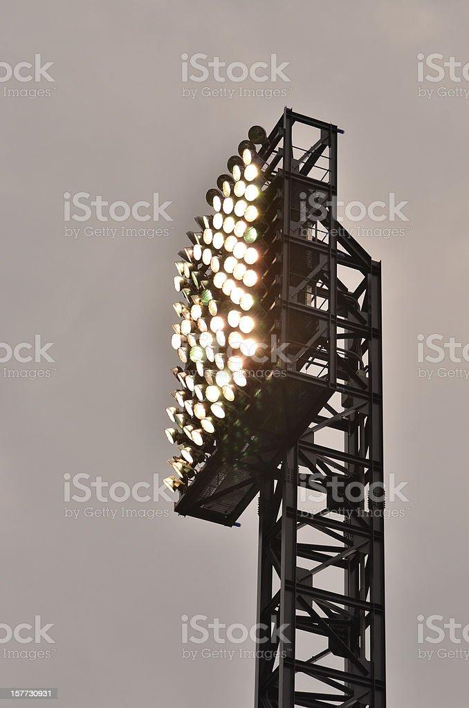 Retro Baseball Stadium Lighting royalty-free stock photo