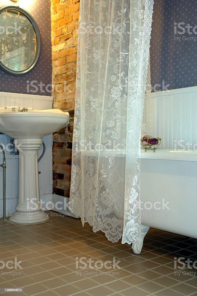retro bathroom royalty-free stock photo