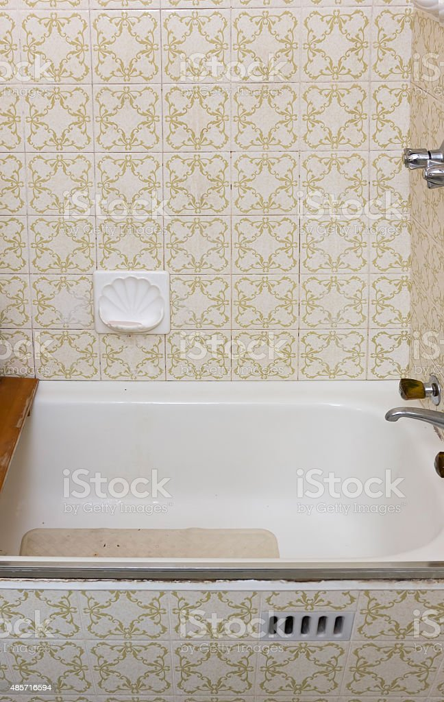 Retro bathroom stock photo