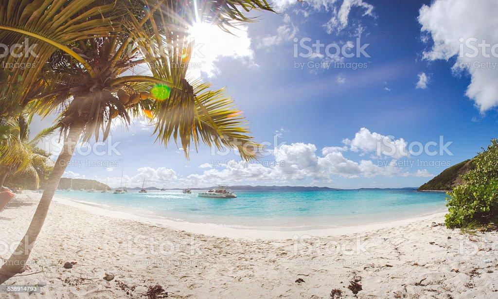 Retro Beach Pano stock photo