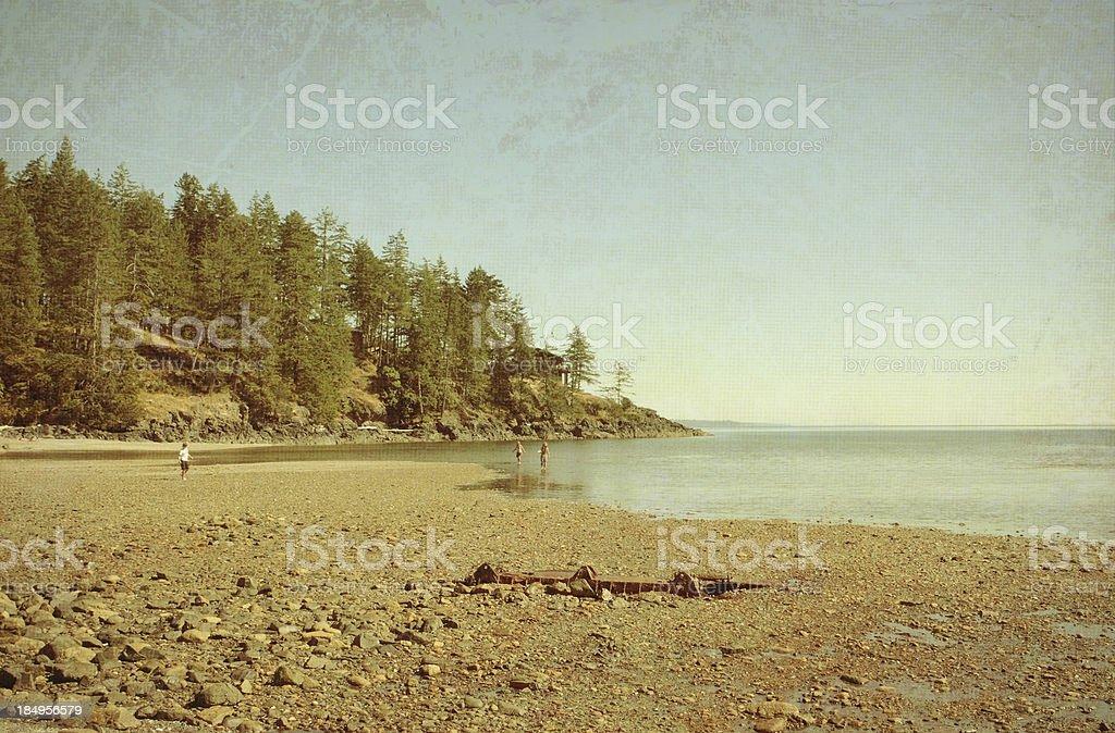 retro beach photo royalty-free stock photo