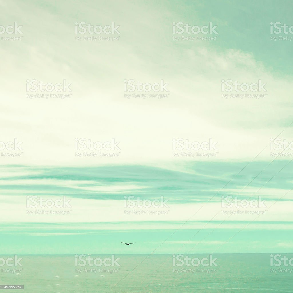 Retro beach stock photo