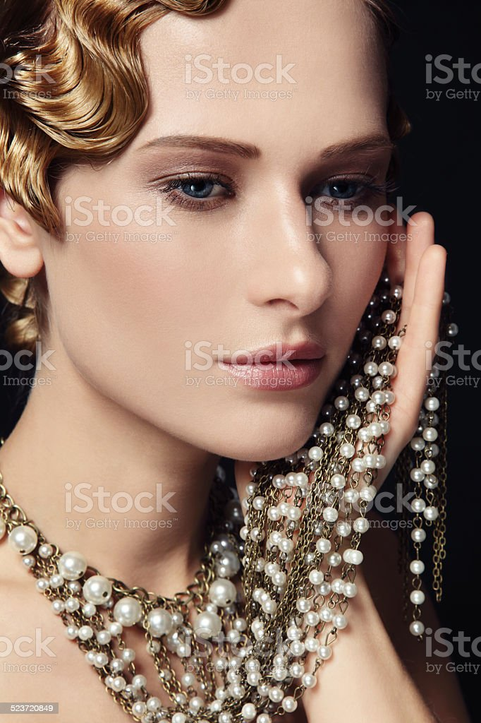 Retro beauty stock photo