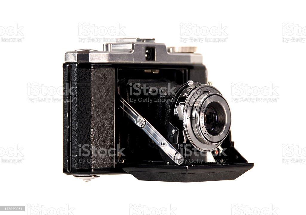 Retro Bellows Camera on White stock photo