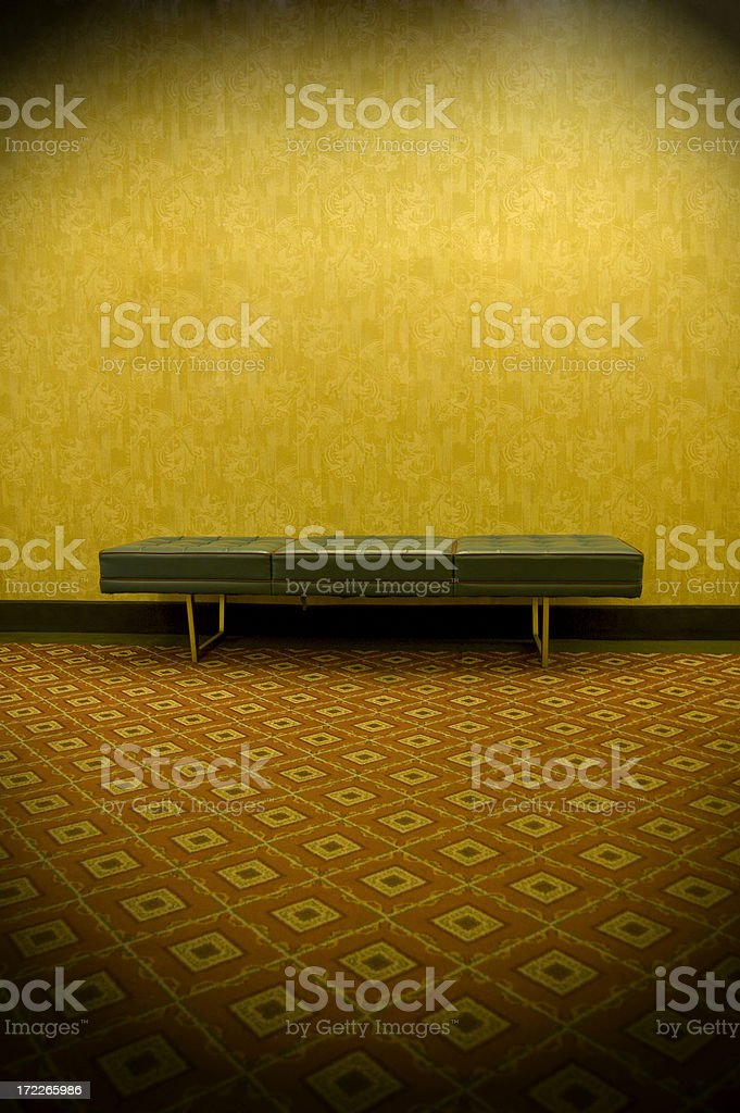 Retro Bench royalty-free stock photo