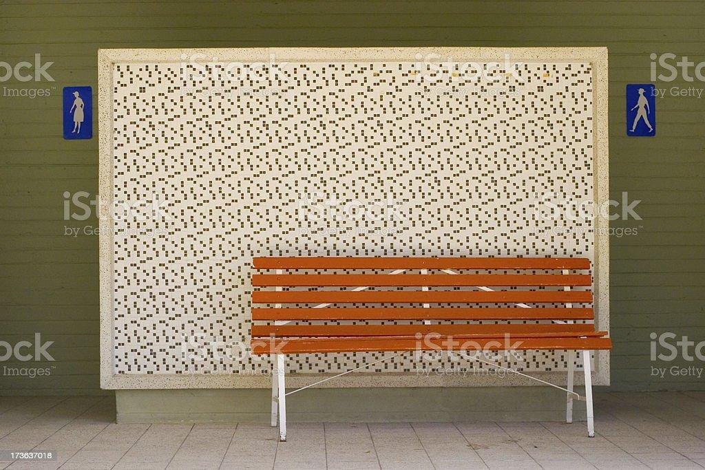 retro bench stock photo