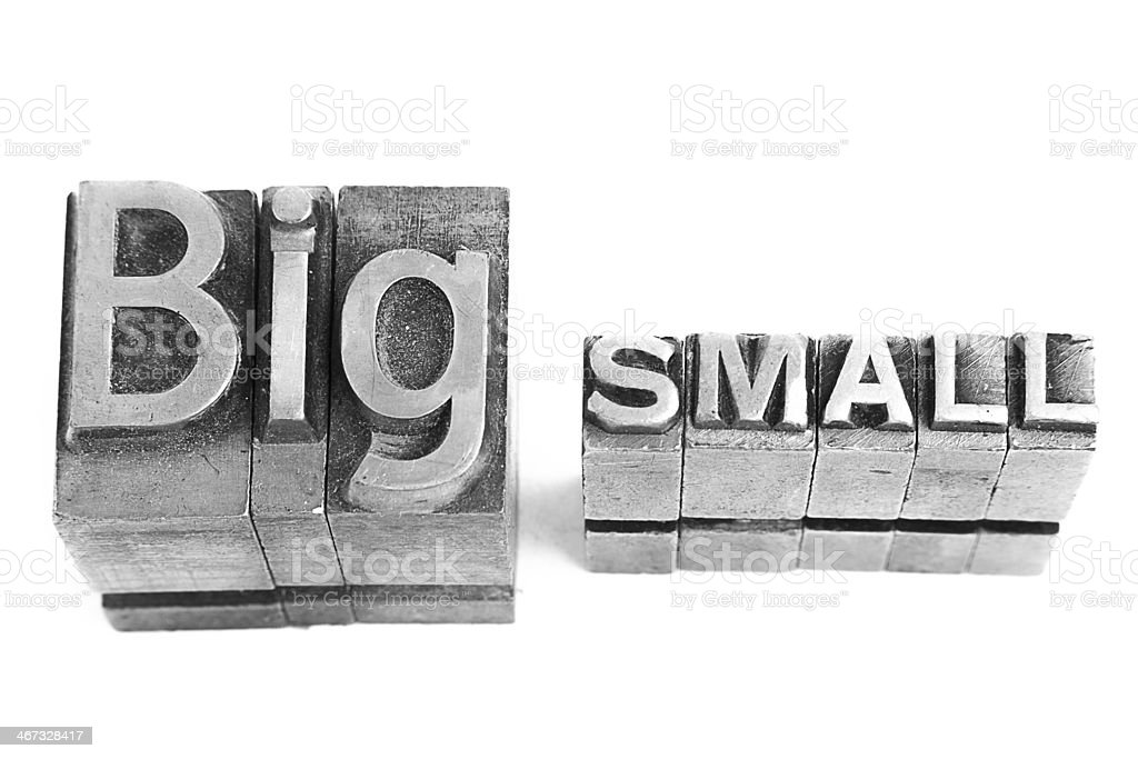 Retro Big and Small sign. royalty-free stock photo