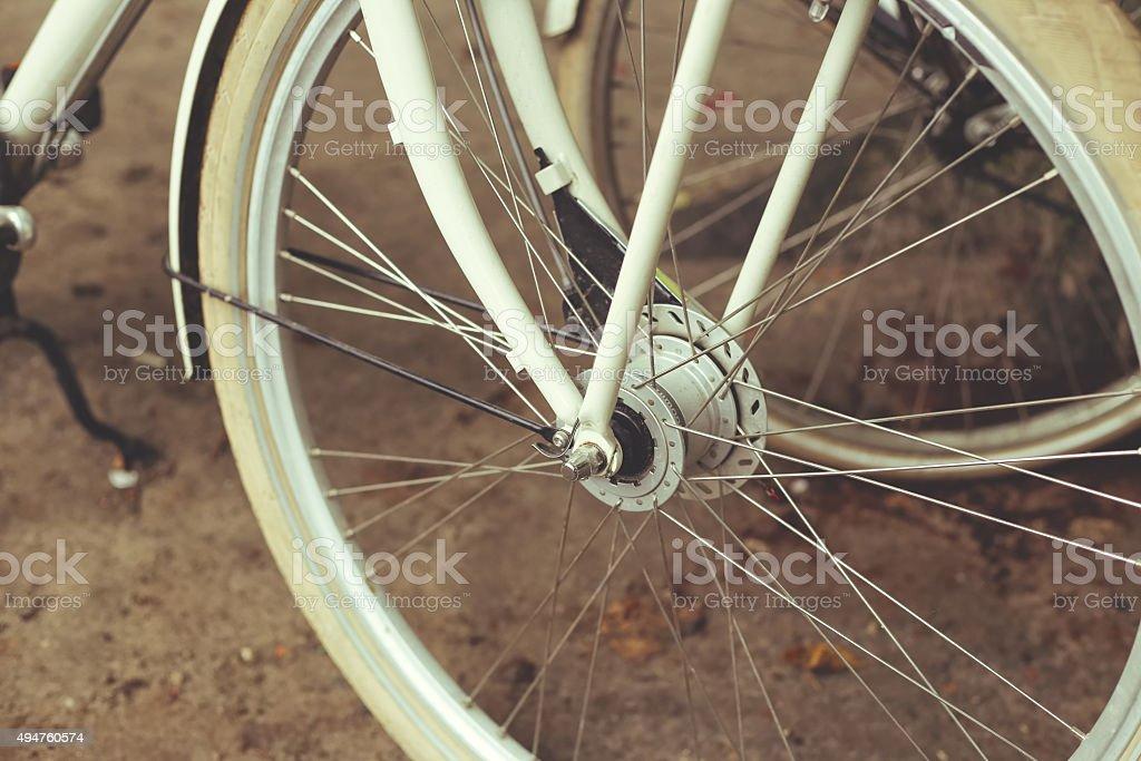 Retro bike stock photo