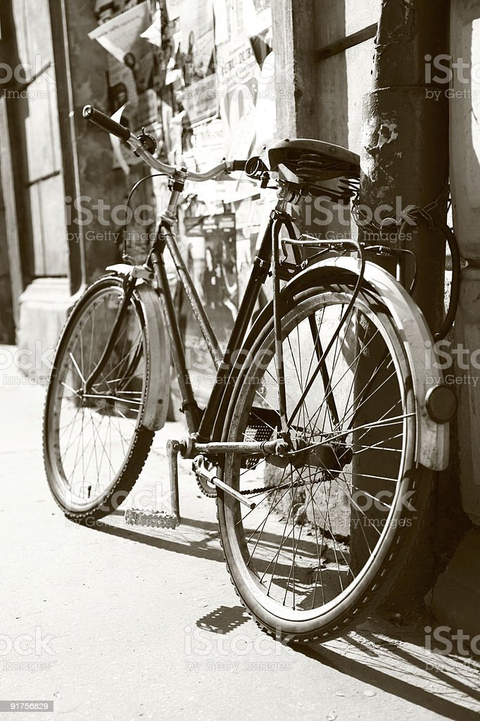 Retro bike royalty-free stock photo