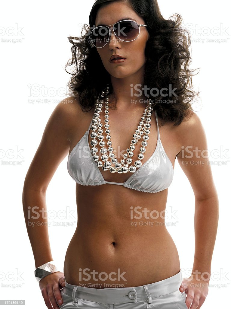 retro bikini girl royalty-free stock photo