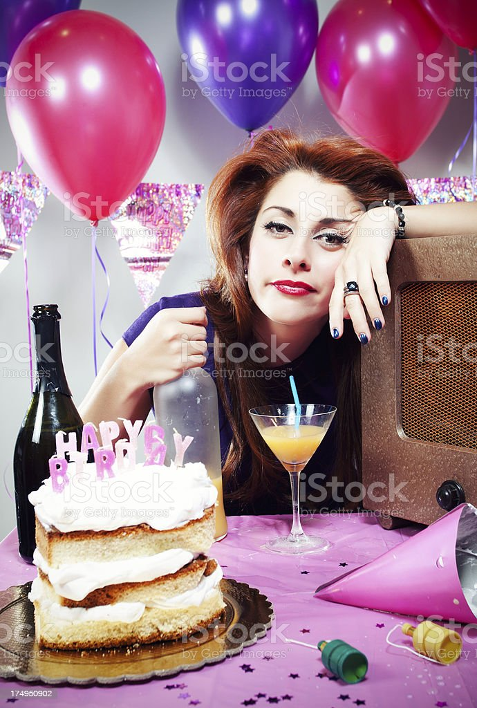 Retro Birthday Drinking royalty-free stock photo