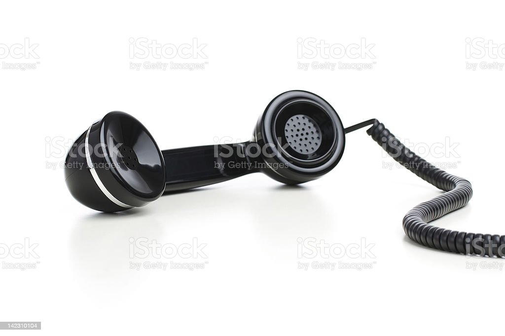 Retro black handset stock photo