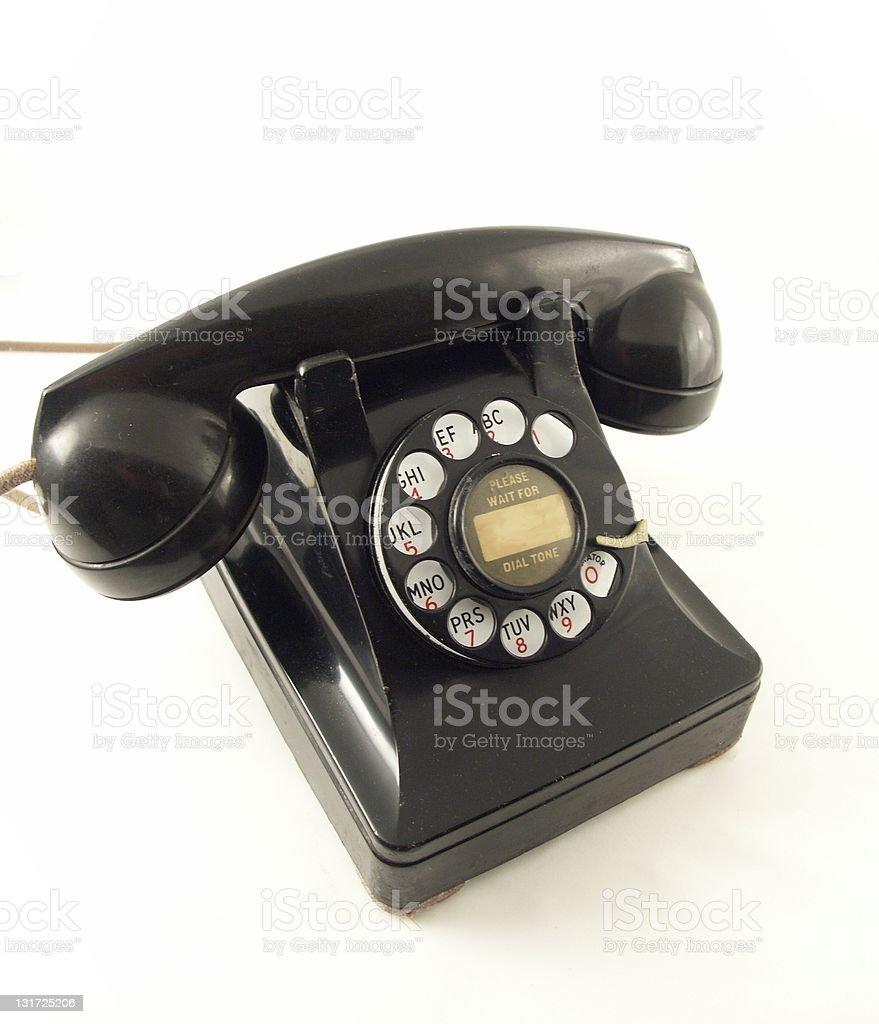 Retro Black Telephone royalty-free stock photo