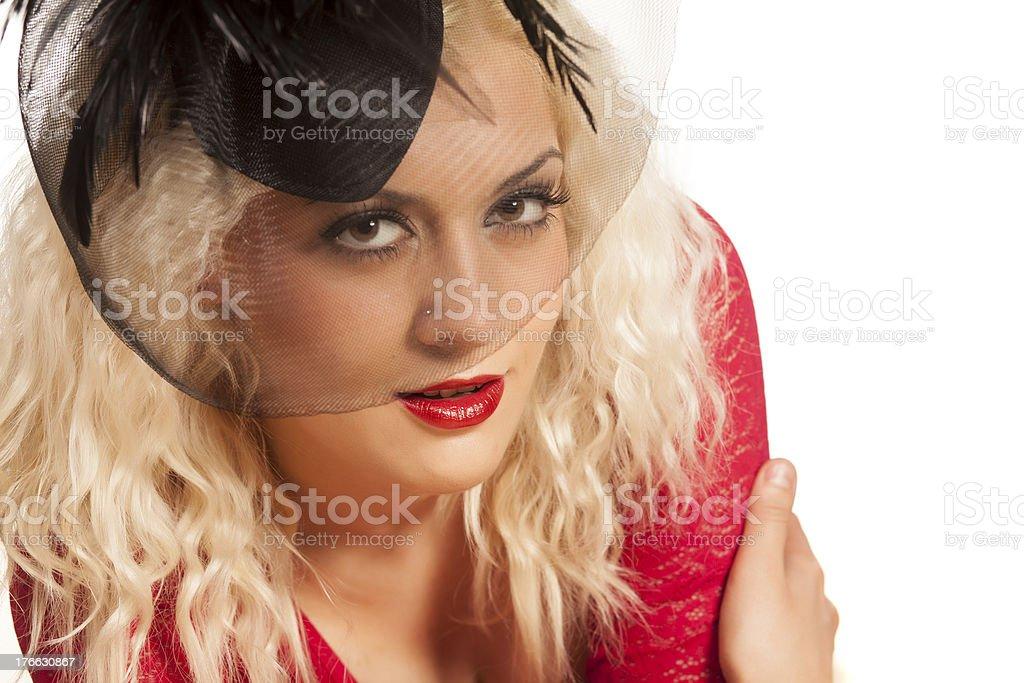 retro blonde royalty-free stock photo