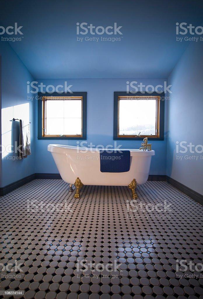 Retro Blue Bath royalty-free stock photo