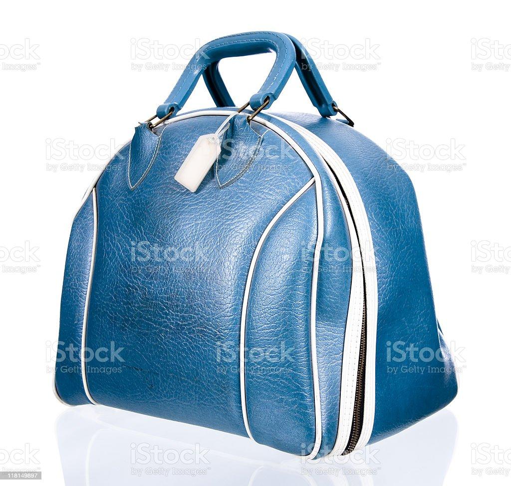 Retro Bowling Ball Bag stock photo