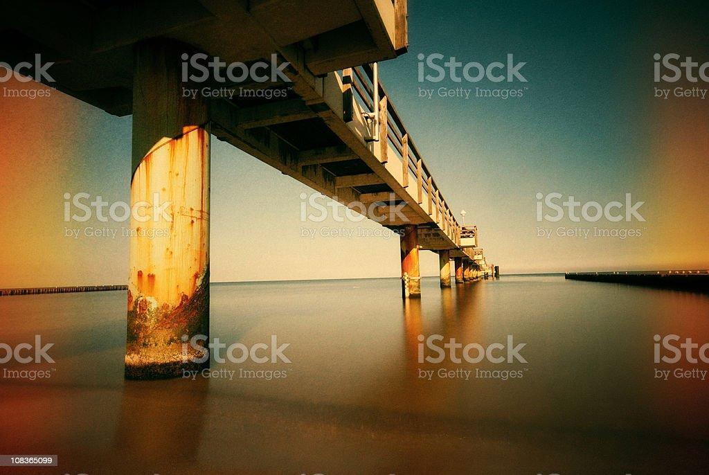 Retro bridge stock photo