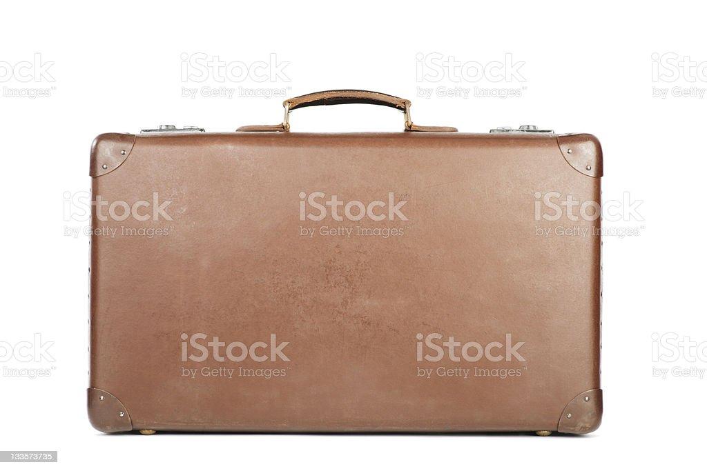 Retro Brown Suitcase - Horizontal stock photo