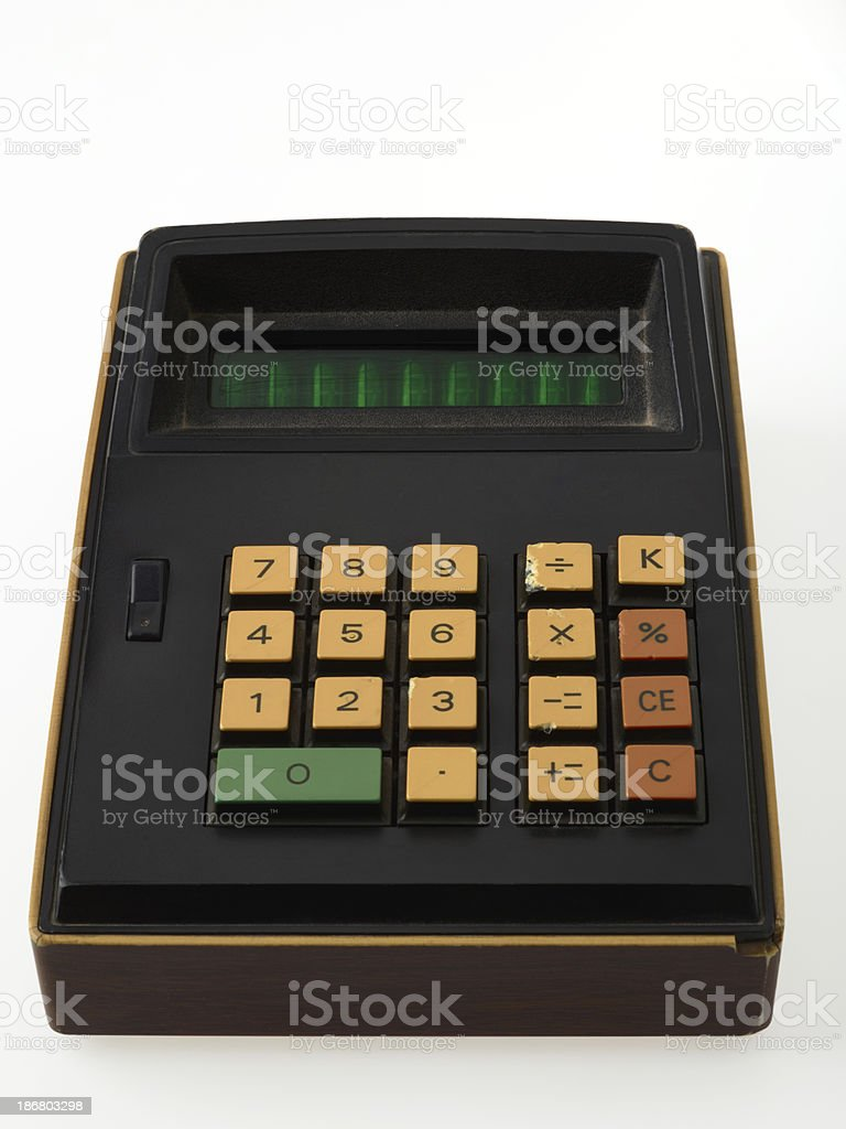 Retro Calculator On white royalty-free stock photo