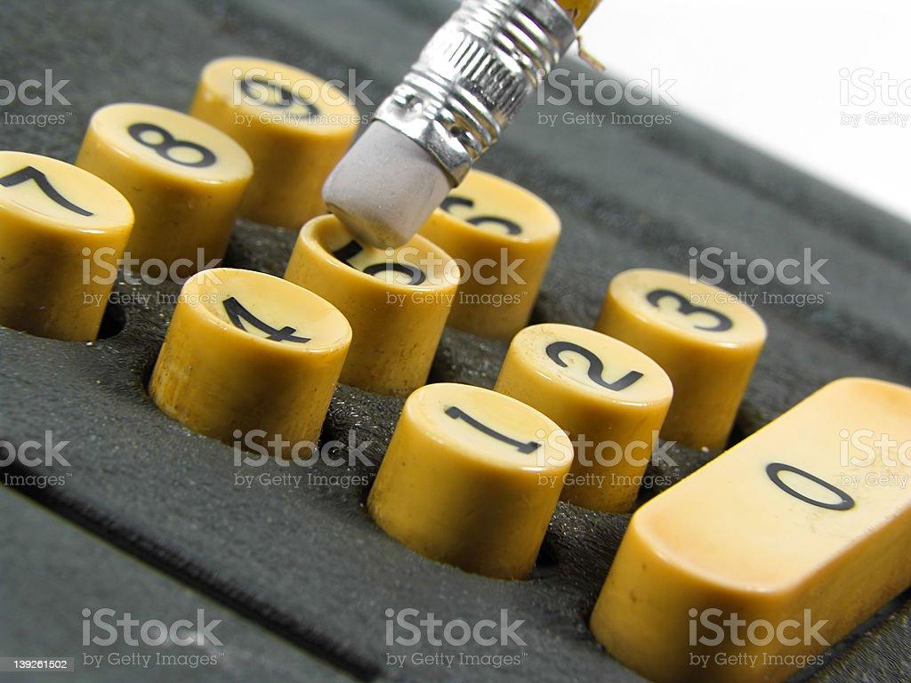 Retro Calculator stock photo