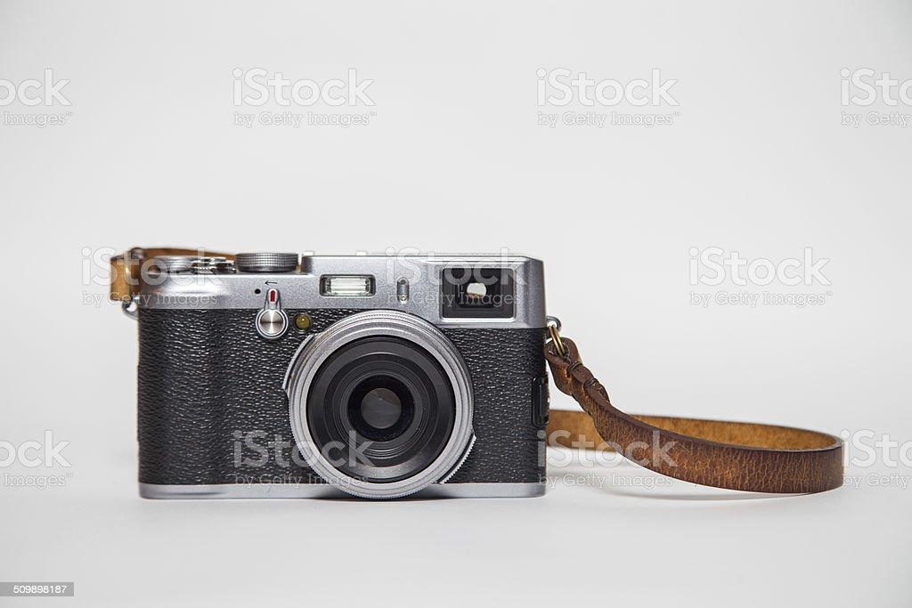 retro camera with white background stock photo