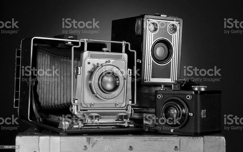Retro cameras stock photo