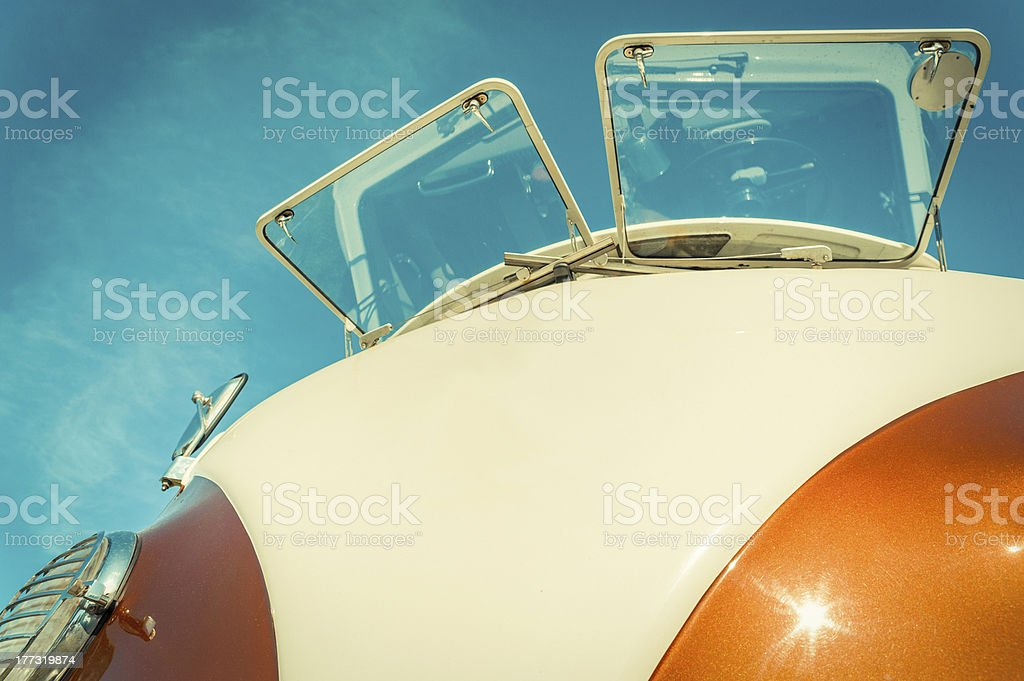 Retro Camper stock photo
