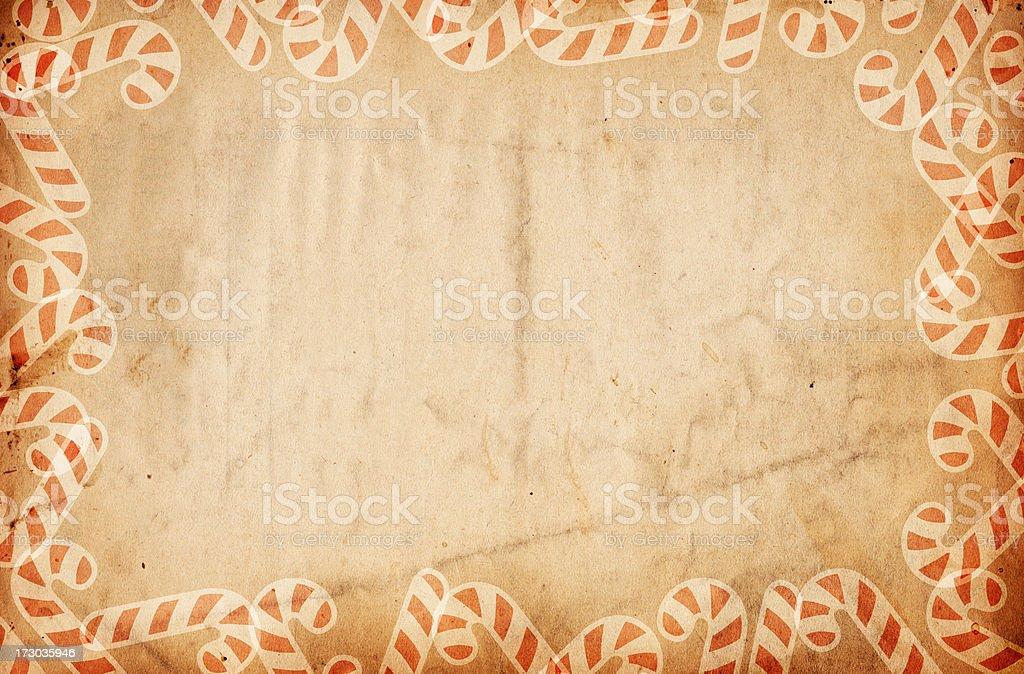 Retro Candy-Cane Paper XXXL royalty-free stock photo