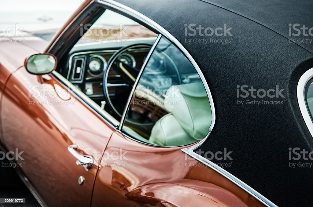 Retro car, close-up stock photo