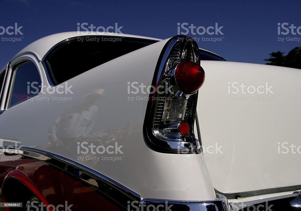 Retro Car Cowboy stock photo
