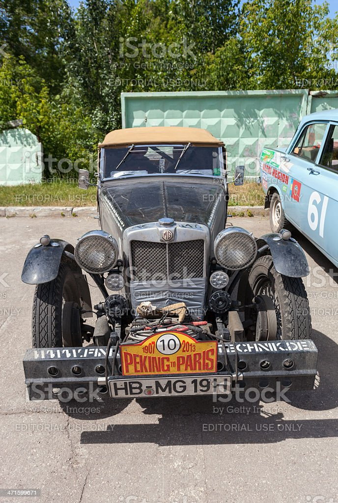 Retro car MG TC 1948 year royalty-free stock photo