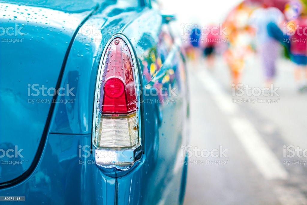 Retro car rear light stock photo