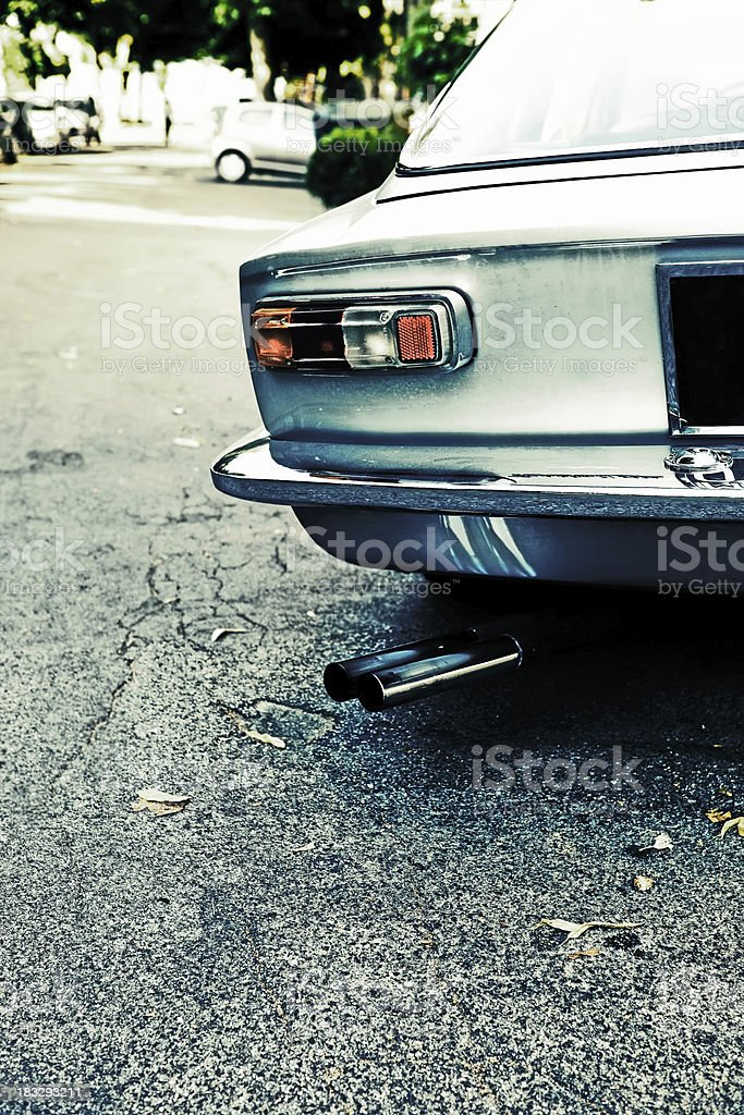 retro car rear view royalty-free stock photo