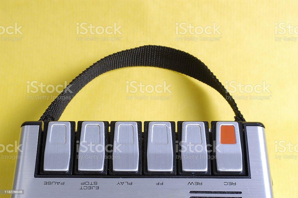 retro cassette player controls stock photo