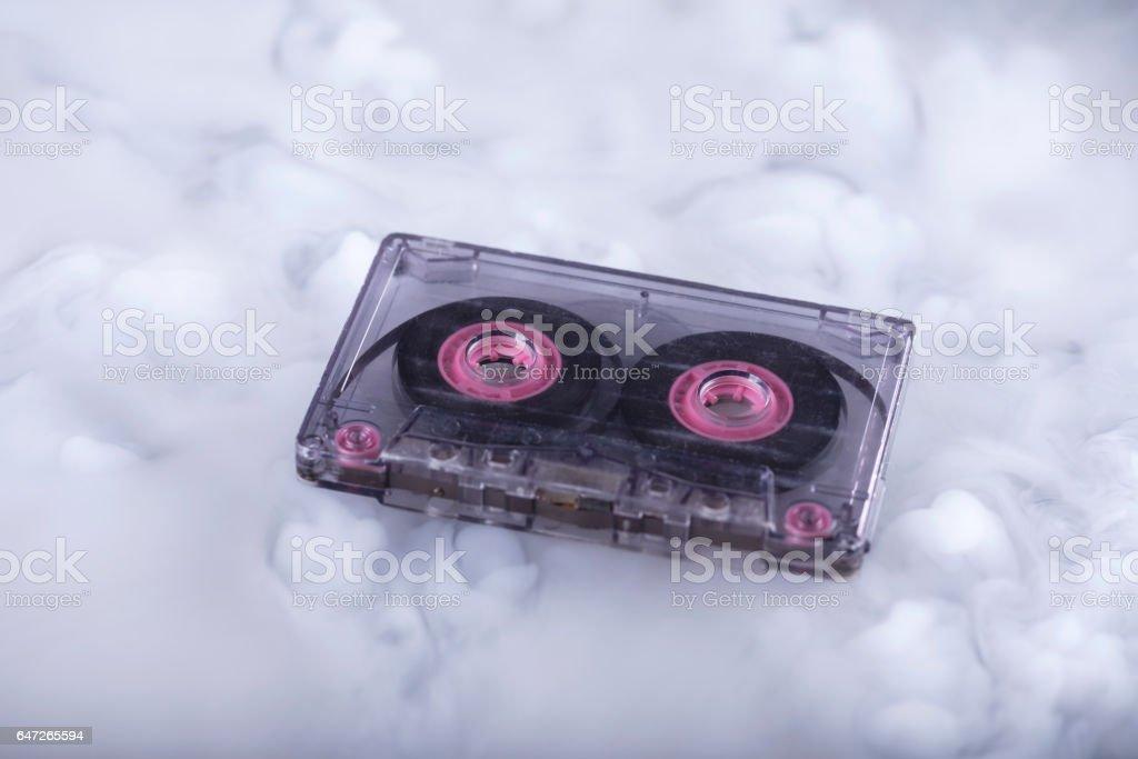 Retro cassette tape. Conceptual photography sound cloud stock photo