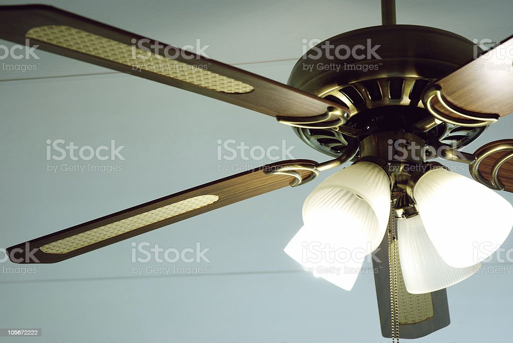 Retro Ceiling Fan stock photo