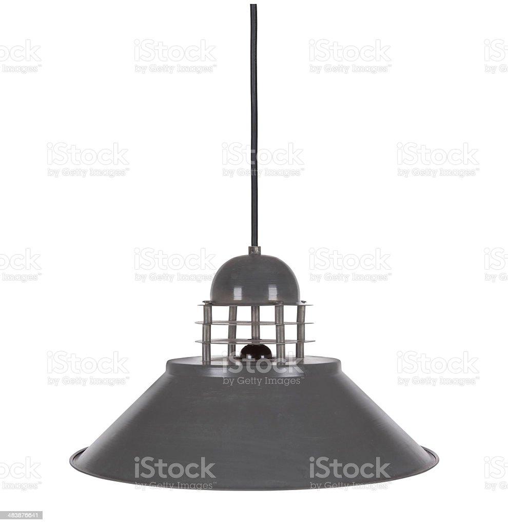 Retro Ceiling Lamp Isolated On White Background stock photo