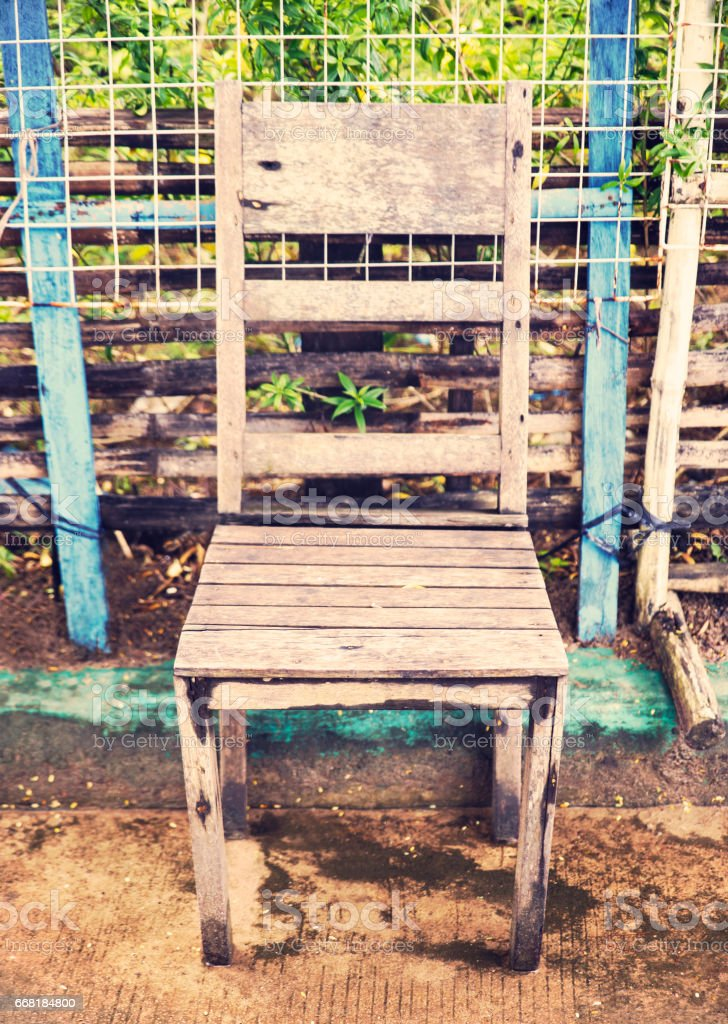 retro chair,sabang,palawan stock photo