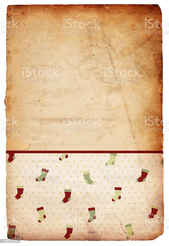 Retro Christmas Background - Kitchy Stockings stock photo