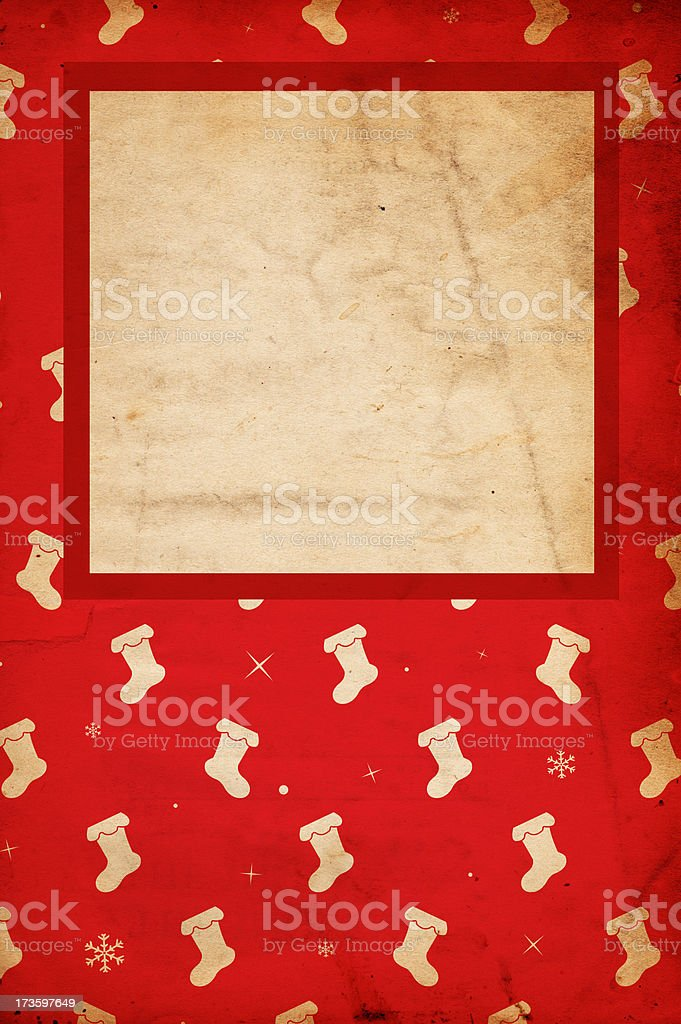 Retro Christmas Background XXXL royalty-free stock photo